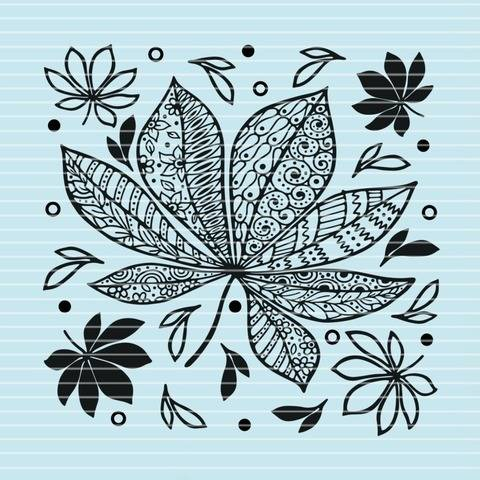 "Cutting file ""autumn leafs"" for Ironing-picture SVG DXF"