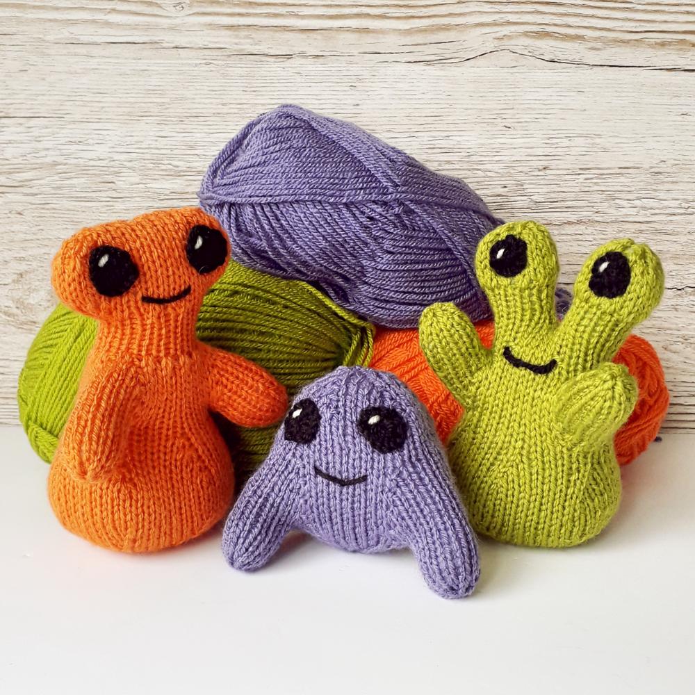 Monster Toy, knitting pattern, pdf, My Mini Monsters