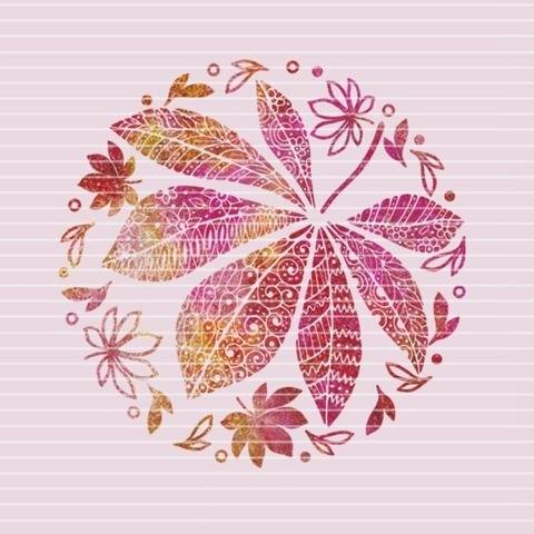 """Cutting file """"leafs decor"""" for Ironing-picture SVG DXF"""