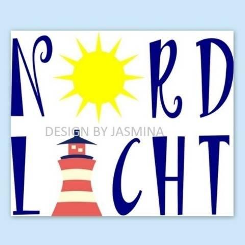Plotterdatei  SVG  Nordlicht / Sonne und Leuchtturm