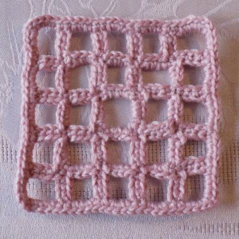 Crochet Pattern: Lattice Granny Square