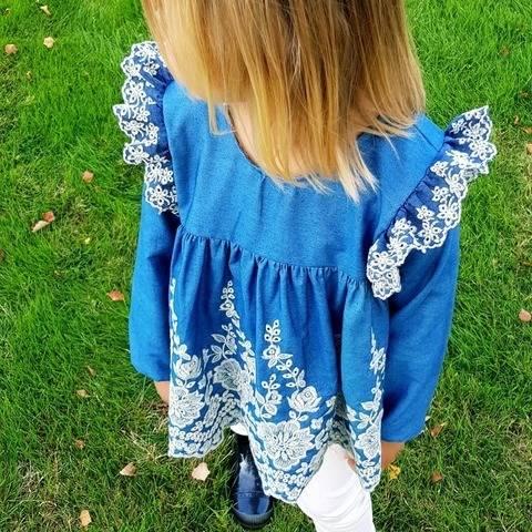 """Blouse ou robe enfant """"Aéla"""" (du 2 ans au 12 ans)"""