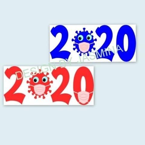 Plotterdatei Virus 2020 Maske SVG