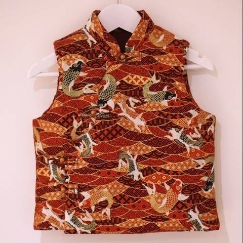 Mandarin Quilted Gilet