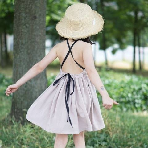 Crisscross Open Back Summer Dress 2-10 years