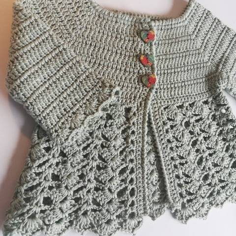 Julia Baby Cardigan Crochet Pattern