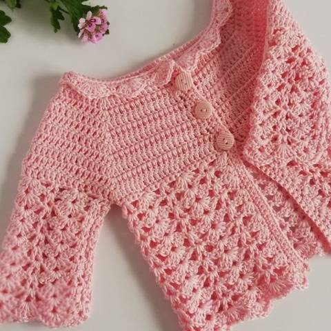 Jane Baby Crochet Cardigan