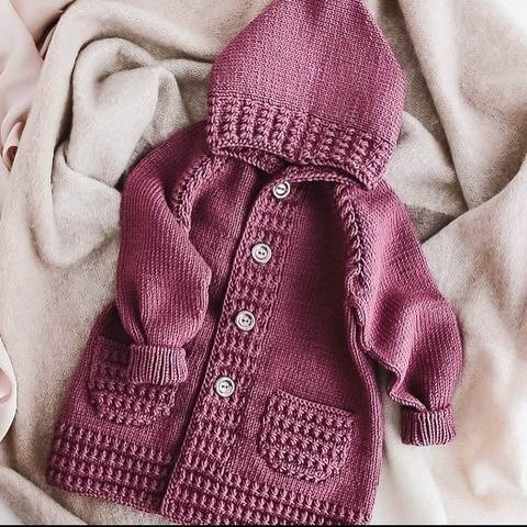 BABY CARDIGAN 7 Sizes PDF Knitting Pattern