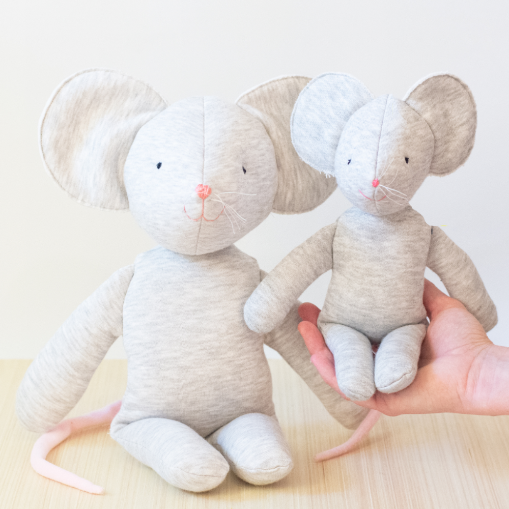 Little Mouse stuffed toy sewing pattern