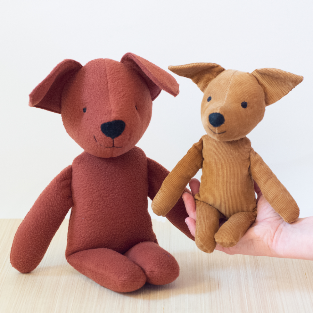 stuffed dog puppy plush stuffed animal sewing pattern