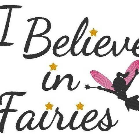 Stickdatei Fee Elfe I believe in Fairies