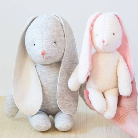 Bunny rabbit stuffed toy sewing pattern