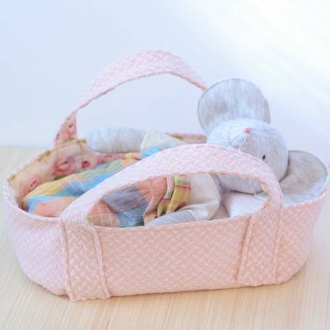 Basket little bed bassinet pattern for stuffed animal