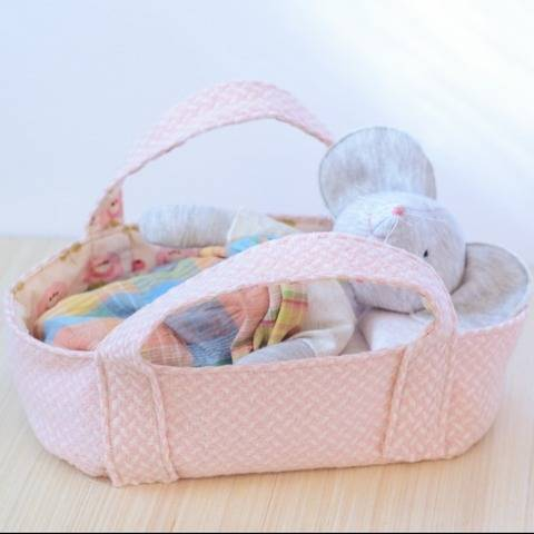 Pattern for Basket little bed bassinet for stuffed animal
