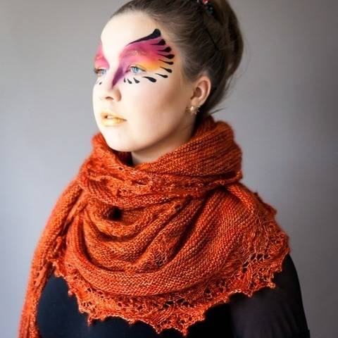 Fawkes - huge shawl in mohair and silk