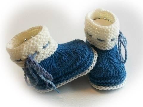 Strickanleitung Baby Boots