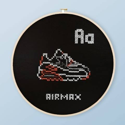 A is for AirMax Cross Stitch PDF Pattern Active at Makerist