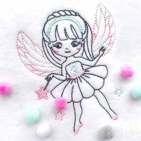 "Stickdatei ""Little Fairy"" 10*10"