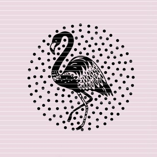 """Cutting file """"flamingo"""" for Ironing-picture SVG DXF at Makerist - Image 1"""