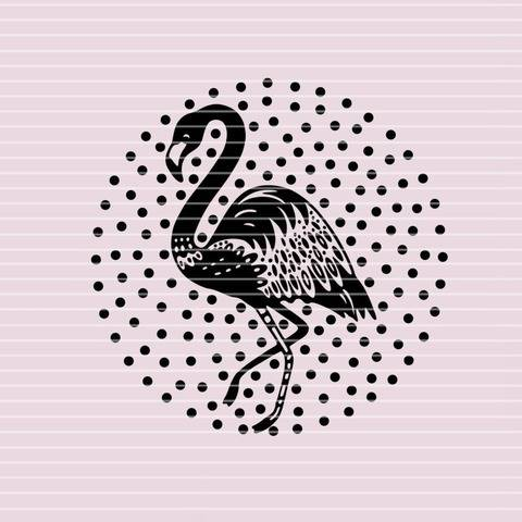 """Cutting file """"flamingo"""" for Ironing-picture SVG DXF"""