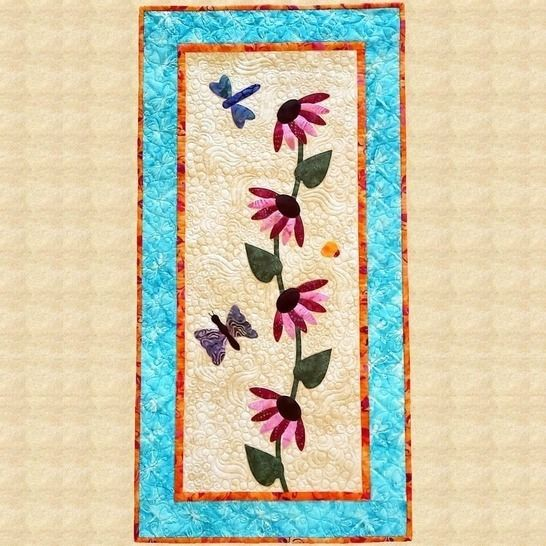 Coneflowers Quilted Wall Hanging Pattern at Makerist - Image 1