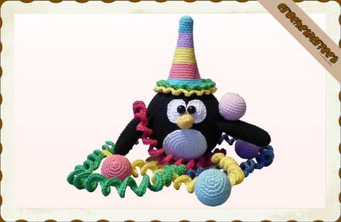 Häkelanleitung (071): Clown Pinguin bei Makerist