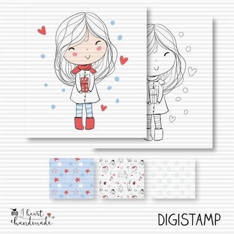 """DigiStamp """"Anna"""" (Winterkinder)"""