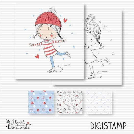 """DigiStamp """"Lotta"""" (Winterkinder) bei Makerist - Bild 1"""