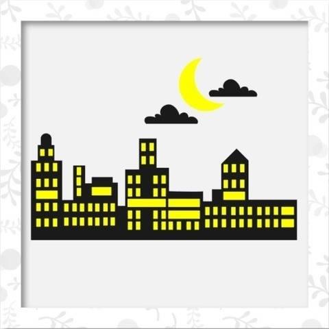 Skyline - Stadtansicht - Bastel-/Plotterdatei