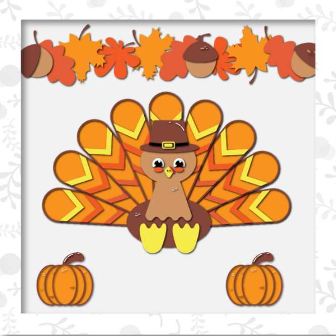 Happy Thanksgiving - Bastel-/Plotterdatei