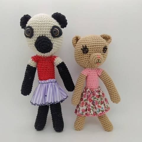 Amigurumi Anita, teddy bear girl