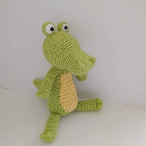 Amigurumi Lemon le crocodile