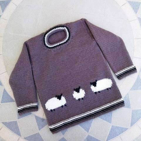 Sheep on a Sweater