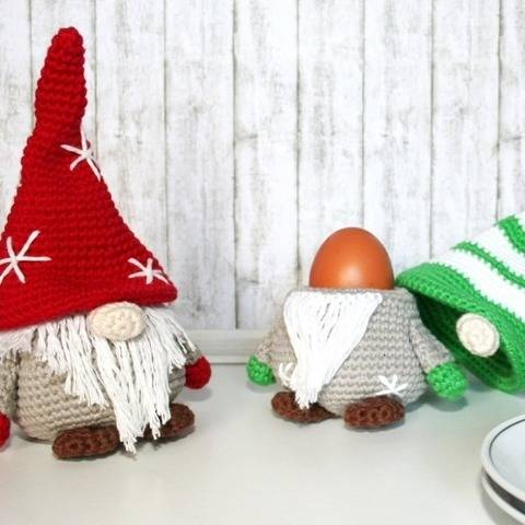 Gnome - Egg Cozy - Crochet Pattern