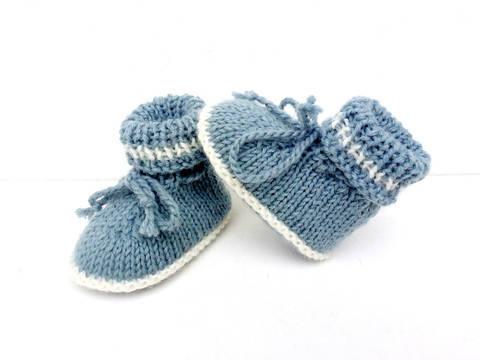Chaussons bébé tailles 1/ 3/ 6 mois,explications tricot.