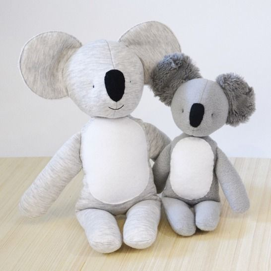 Koala (small and large) stuffed toy sewing pattern at Makerist - Image 1