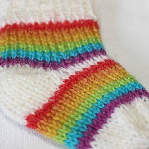 Preemie Baby Simple Rainbow Socks Circular