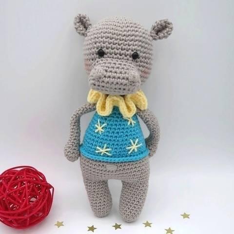 Noam, l'hippopotame • Amigurumi au crochet