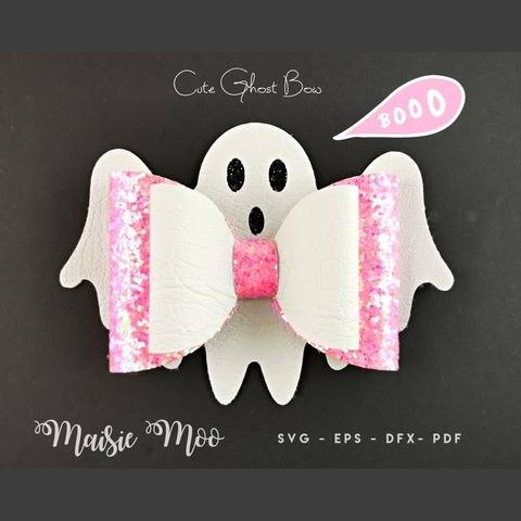 Halloween Ghost Bow SVG   Halloween Bow Template