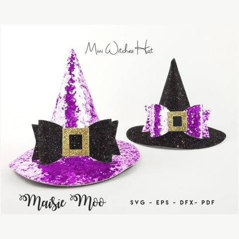 Witches Hat Bow SVG | Halloween Witches Hat Headband
