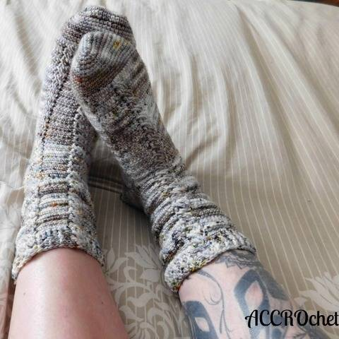 Almost the same - crochet socks