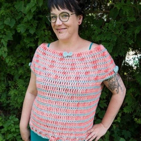 Cotton Candy - t-shirt to crochet at Makerist