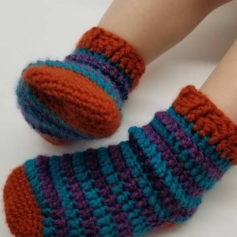Ice Cream - crochet socks