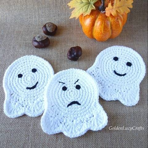 Ghost Coaster Crochet Pattern at Makerist