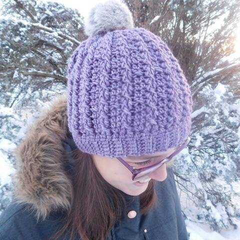 Trinity - cabled crochet hat