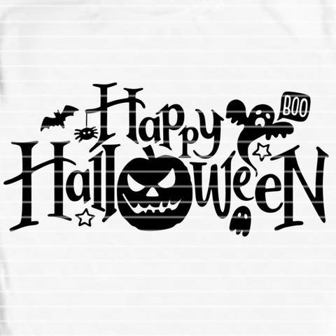 Happy Halloween SVG DXF Plotterdatei