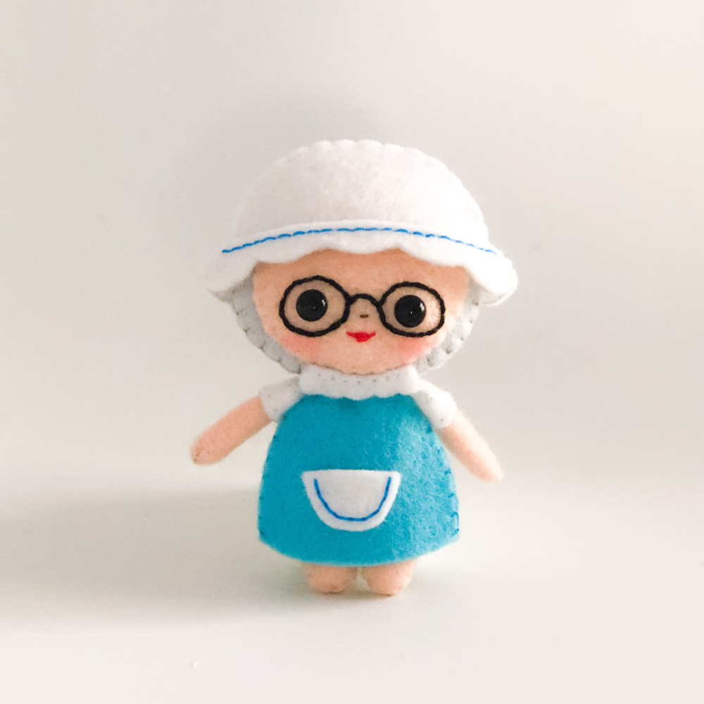 Grandmother from Little Red Riding Hood PDF&SVG doll pattern