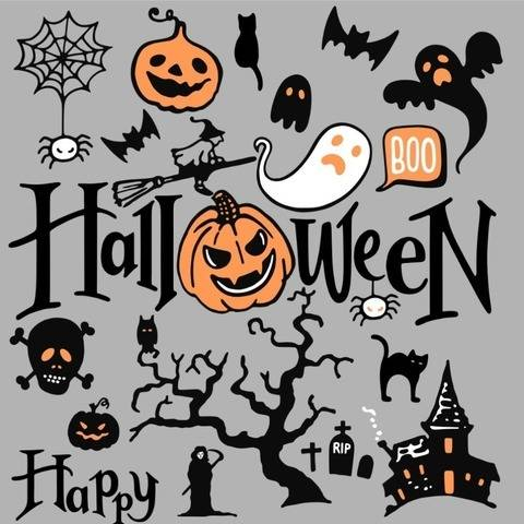 Plotterdatei - Halloween Mix  SVG DXF