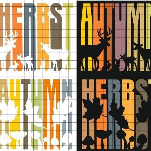 HERBST AUTUMN 4 Variationen Herbst Shadow Lines