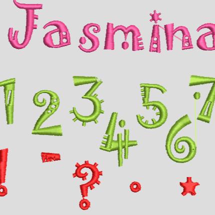 Stickdatei Schrift  Buchstaben Zahlen Geburtstag 327